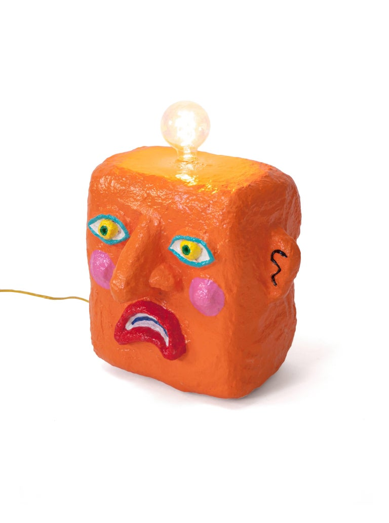 Orange Frown Lamp by Brett Douglas Hunter, USA, 2018 In Excellent Condition For Sale In New York, NY