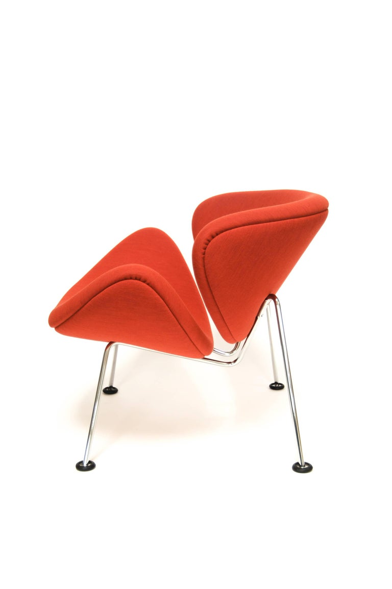 Mid-Century Modern Orange Slice Jr Chair by Pierre Paulin in Febrik 'Uniform', Netherlands For Sale