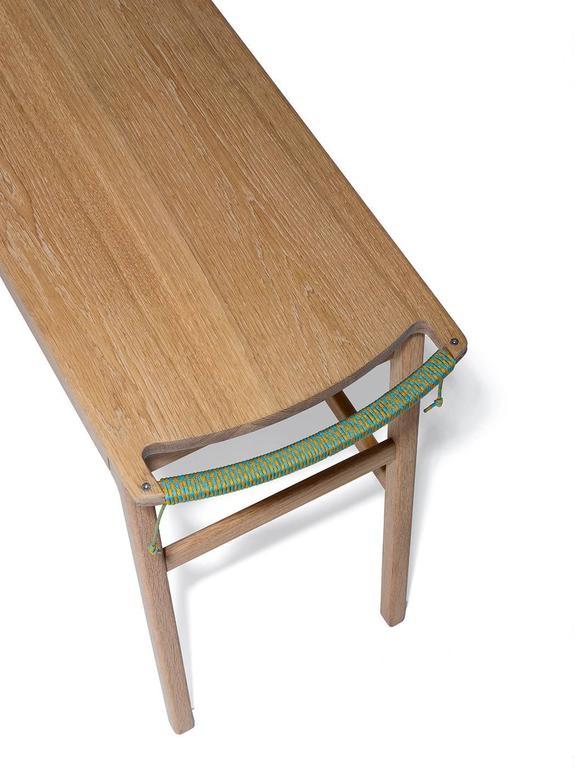 Michael Yates White Oak Rolling Desk Or Sideboard For Sale
