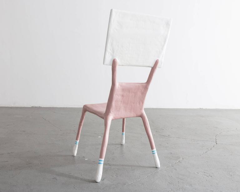 """I'm a Woman Not an Object,"" Child Chair Designed by Lucas Maassen Resin 2"