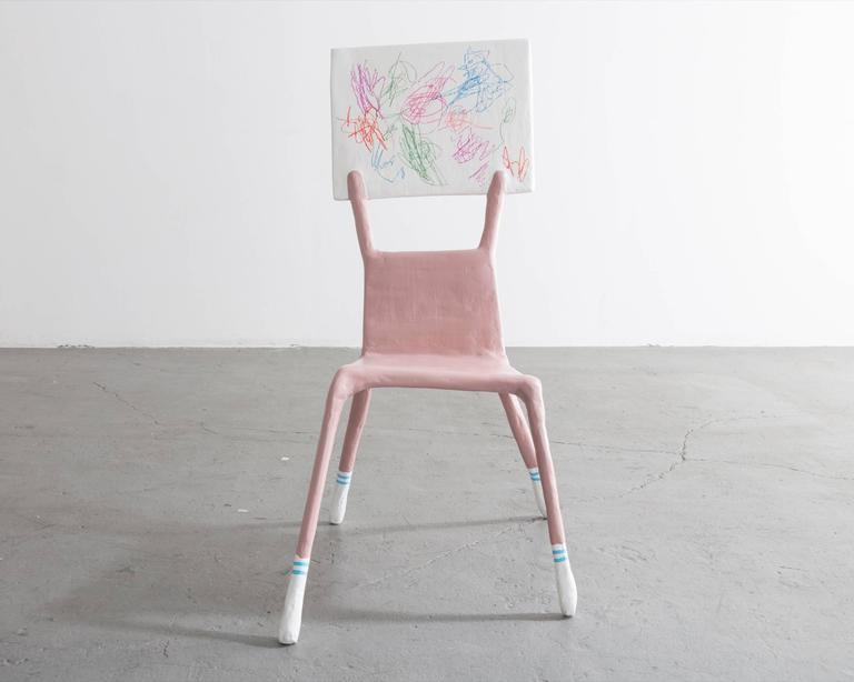 """I'm a Woman Not an Object,"" Child Chair Designed by Lucas Maassen Resin 4"