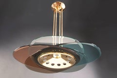Chandelier by Max Ingrand for Fontana Arte, Italy, circa 1954