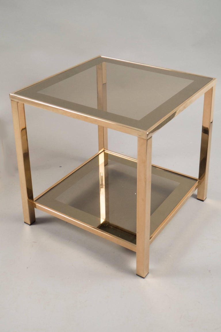 French Pair of Side Tables, France, 1970s For Sale