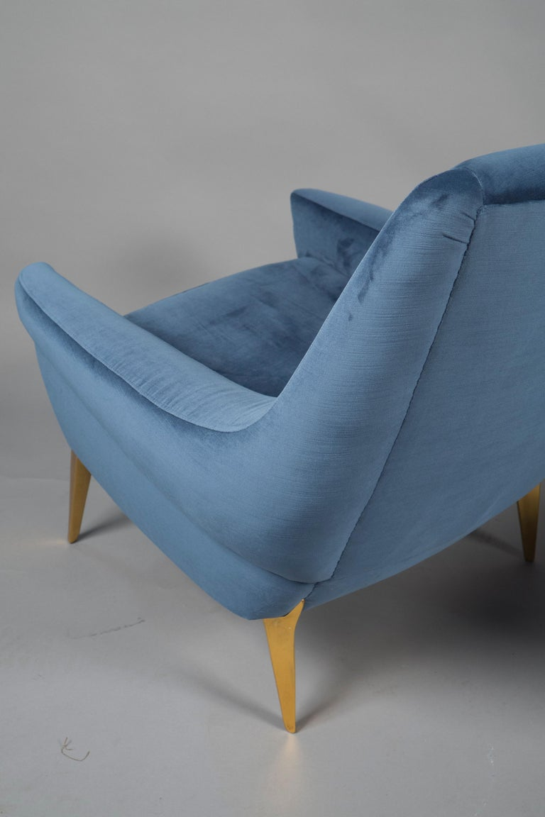 French Pair of Armchairs by Charles Ramos, France, 1960s For Sale