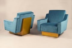 Pair of Armchairs, Italy, 1970's