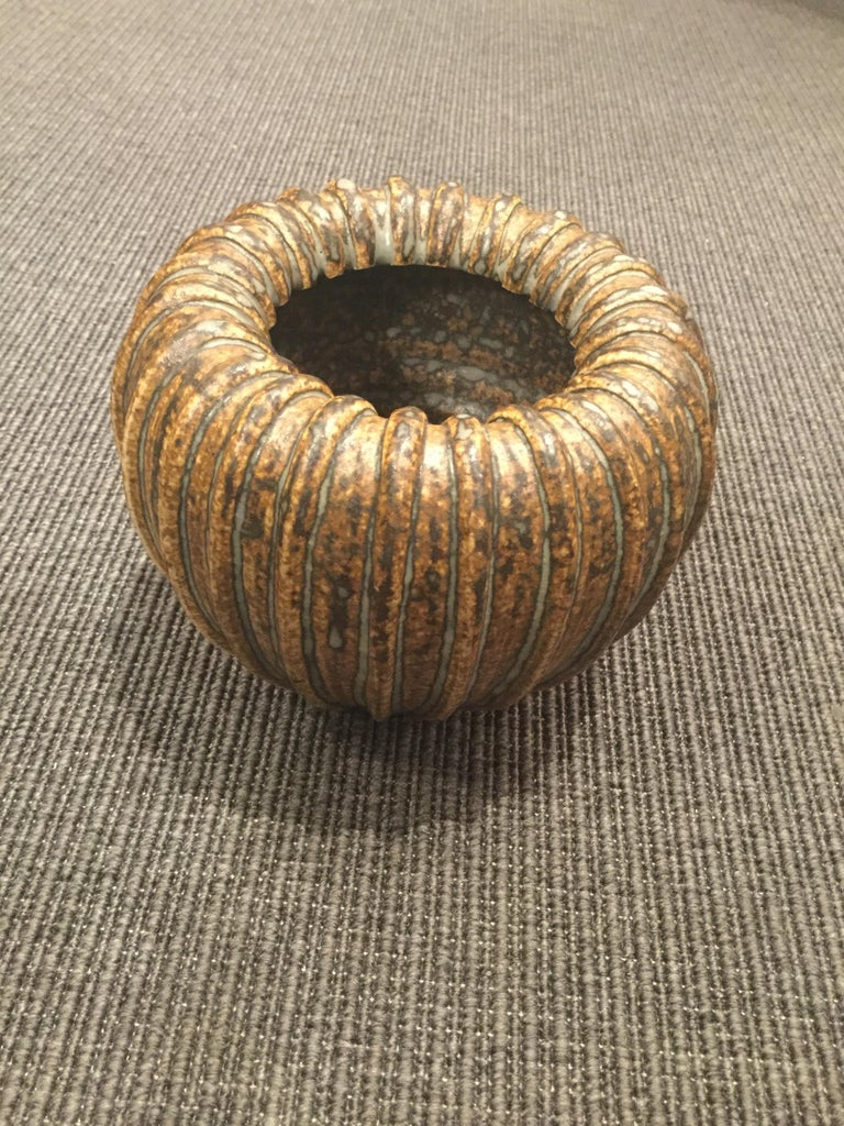 Mid-20th Century Stoneware Vase by Arne Bang, Denmark, 1950s For Sale