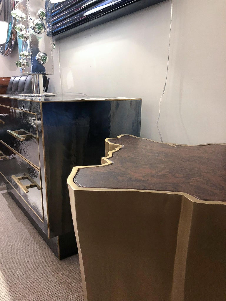 Patinated Pair of Side Tables, France, 2017 For Sale