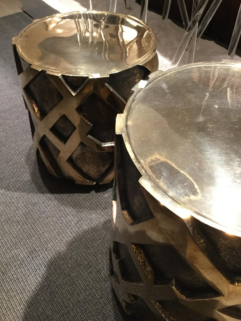 Pair of Bronze Tables, France, 2017 In New Condition For Sale In New York, NY