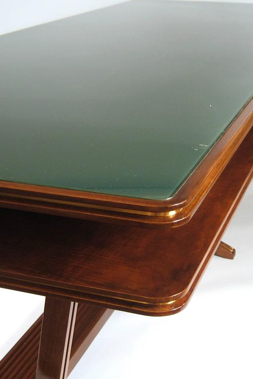 Mid-Century Modern Two-Tier Library or Conference Table, Italy, Art Moderne, circa 1940 For Sale