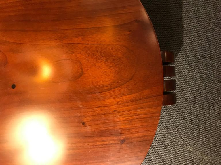 Mahogany Coffee Table Attributed Jean-Charles Moreux, France Art Moderne, circa 1940 For Sale