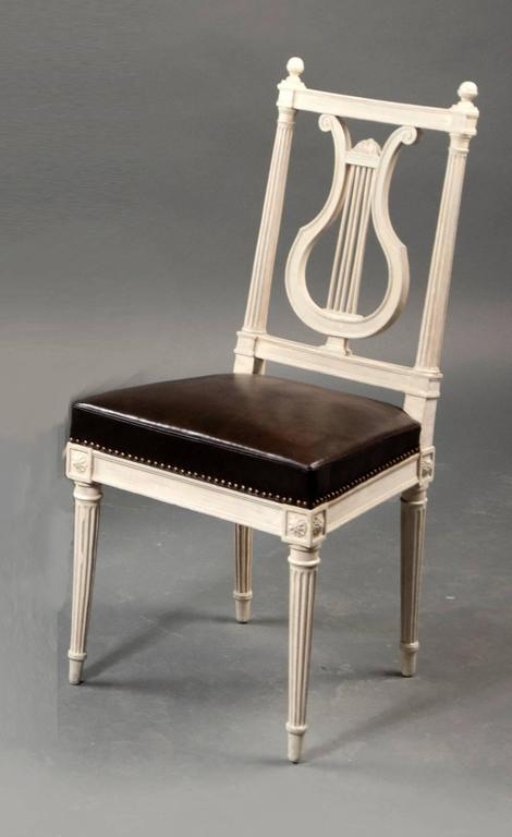 French Set of Eight Chairs, Louis XVI, France, Late 18th Century