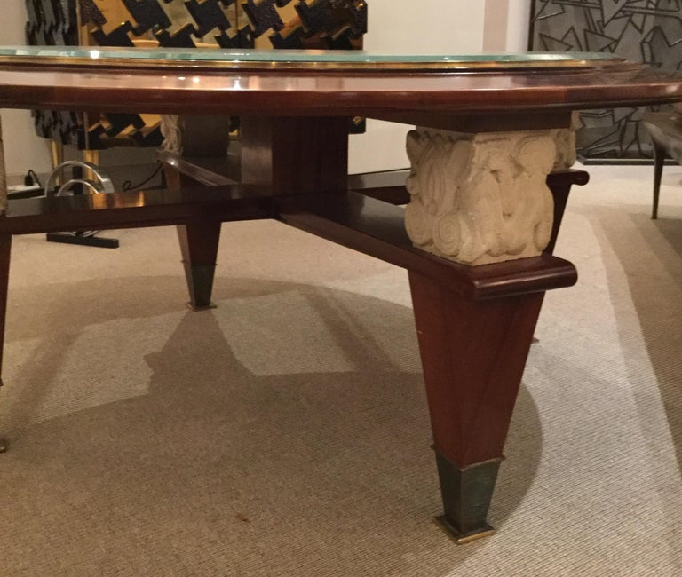 Coffee Table by Dominique, France, 1940's In Excellent Condition For Sale In New York, NY