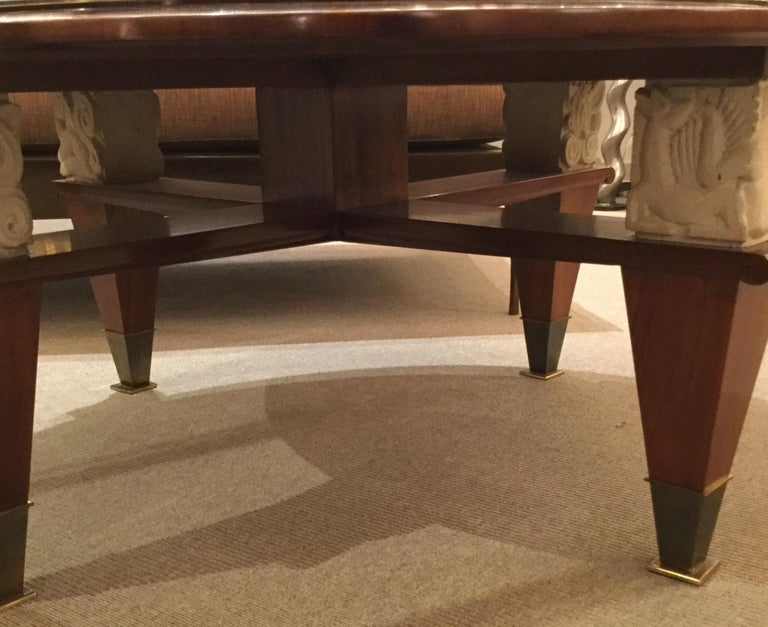 Mid-20th Century Coffee Table by Dominique, France, 1940's For Sale