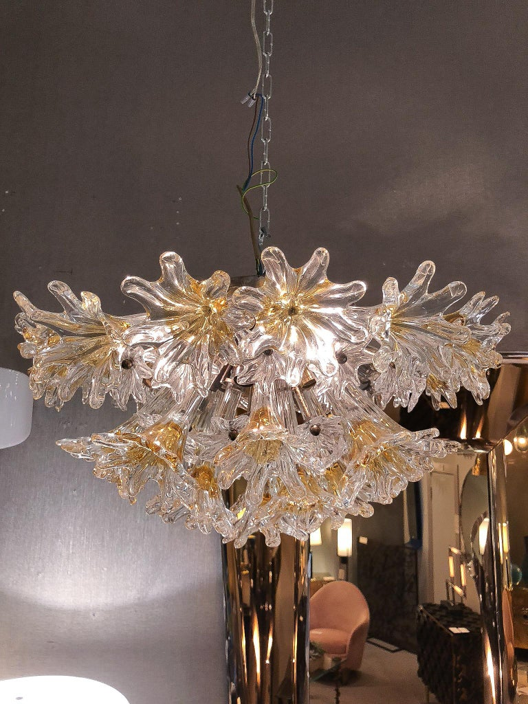 Mid-Century Modern Ceiling Light by Venini &Co, Italy, 1970's For Sale