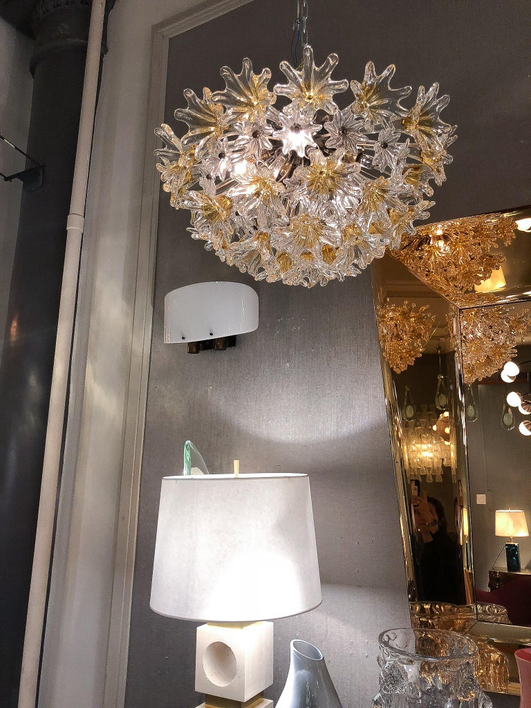 Ceiling Light by Venini &Co, Italy, 1970's In Excellent Condition For Sale In New York, NY