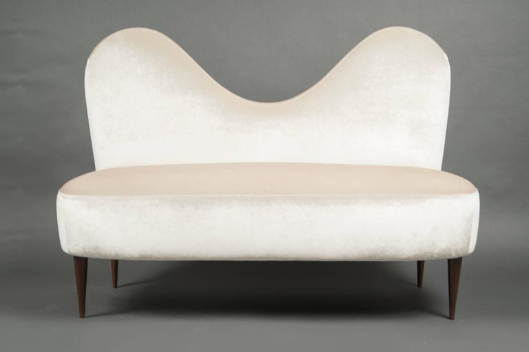 Two-Seat SofaAttributed to Cesare Lacca, Italy, circa 1950 2