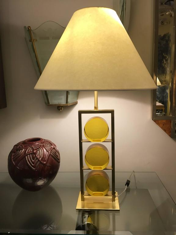 Pair of Glass and Brass Lamps by Roberto Rida, Italy, 2016 9