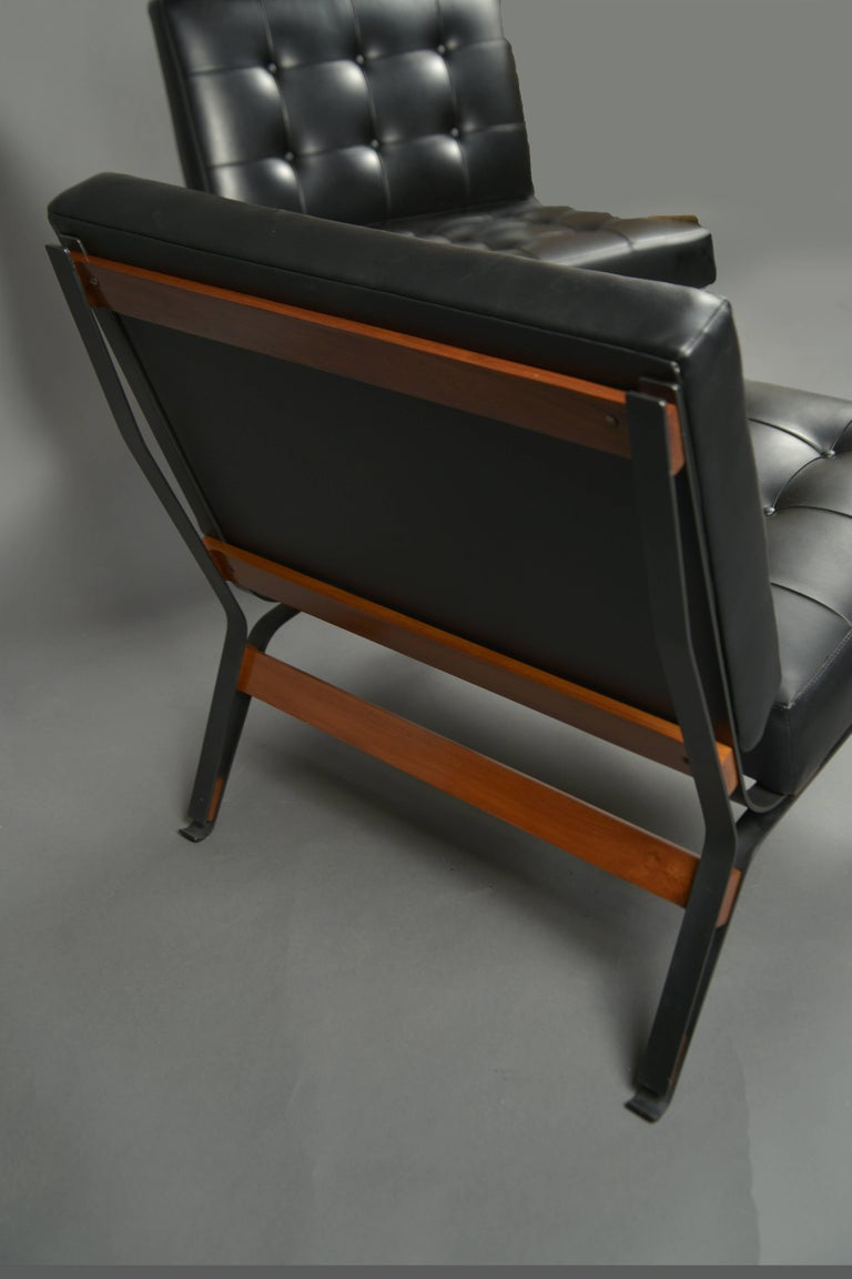 Mid-Century Modern Pair of Chairs by Ico Parisi, Cassina Production, Italy, circa 1958 For Sale