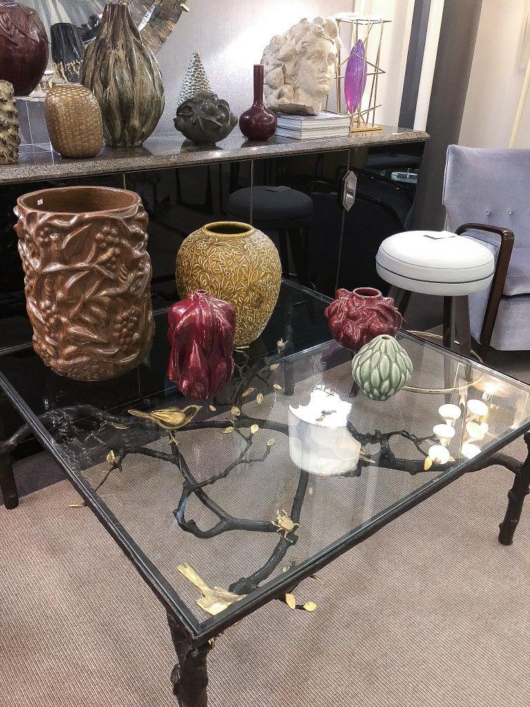 Belgian Wrought Iron Sculptural Coffee Table by Paula Swinnen, Belgium, 2017 For Sale