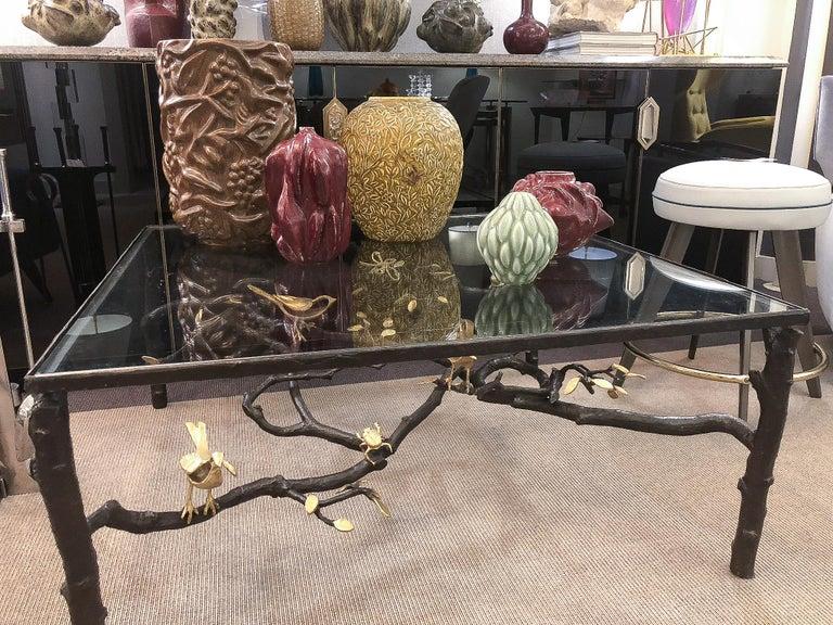 Gilt Wrought Iron Sculptural Coffee Table by Paula Swinnen, Belgium, 2017 For Sale