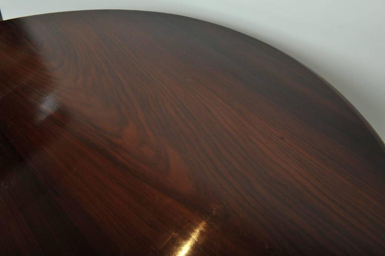 Late 19th Century British Campaign Rosewood Round Dining Table For Sale 4