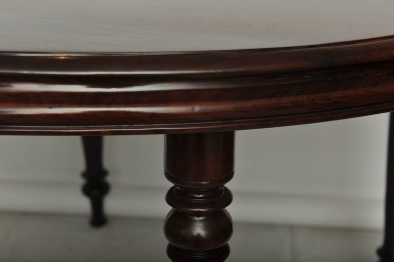 Late 19th Century British Campaign Rosewood Round Dining Table For Sale 2