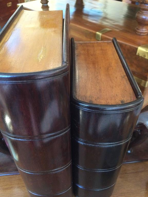 English Satinwood and Rosewood Book Box For Sale