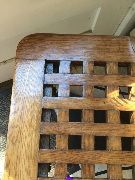 Ship's Teak Decking on Iron Base In Good Condition For Sale In Nantucket, MA