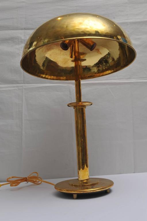 Pair of mid century modern nautical brass table lamps from ships pair of brass table lamps with brass dome shades from the stateroom of a mid keyboard keysfo Image collections