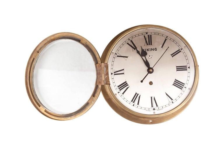 German Nautical Brass Ship's Clock, circa 1960s For Sale