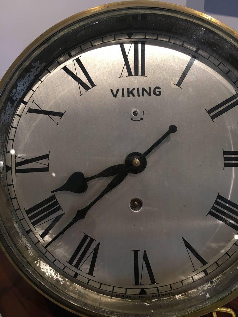 Nautical Brass Ship's Clock, circa 1960s For Sale 2