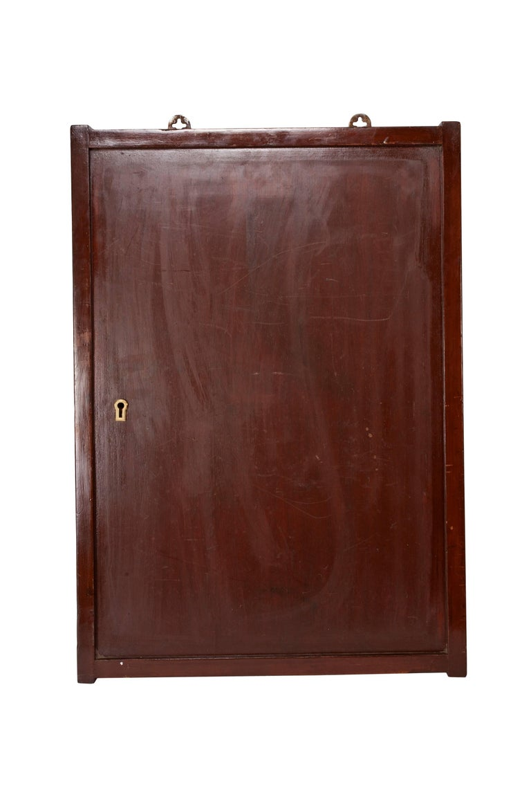 Teak Ship's Nautical Key Storage Cabinet, 1970s In Good Condition For Sale In Nantucket, MA