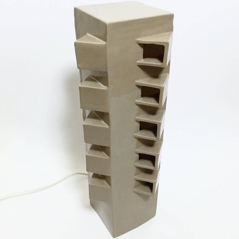 Ceramic Column Lamp Sculpture 3