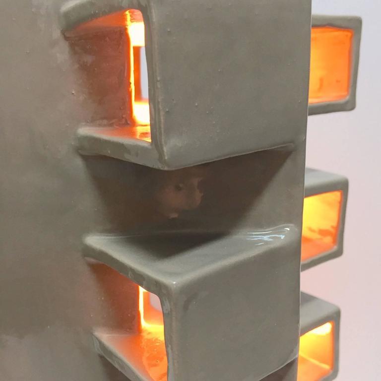 Ceramic Column Lamp Sculpture 4