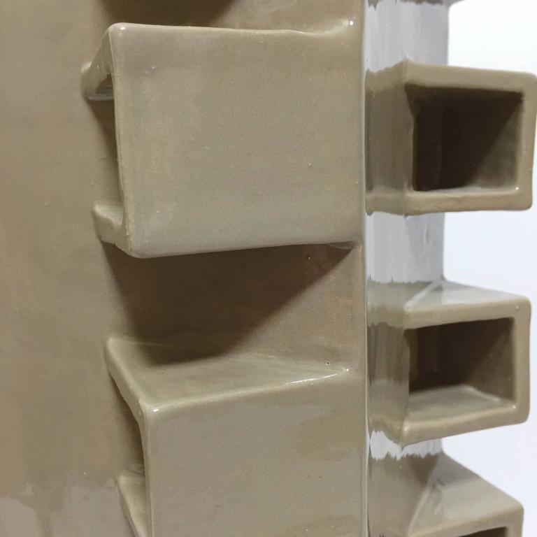 Ceramic Column Lamp Sculpture 2