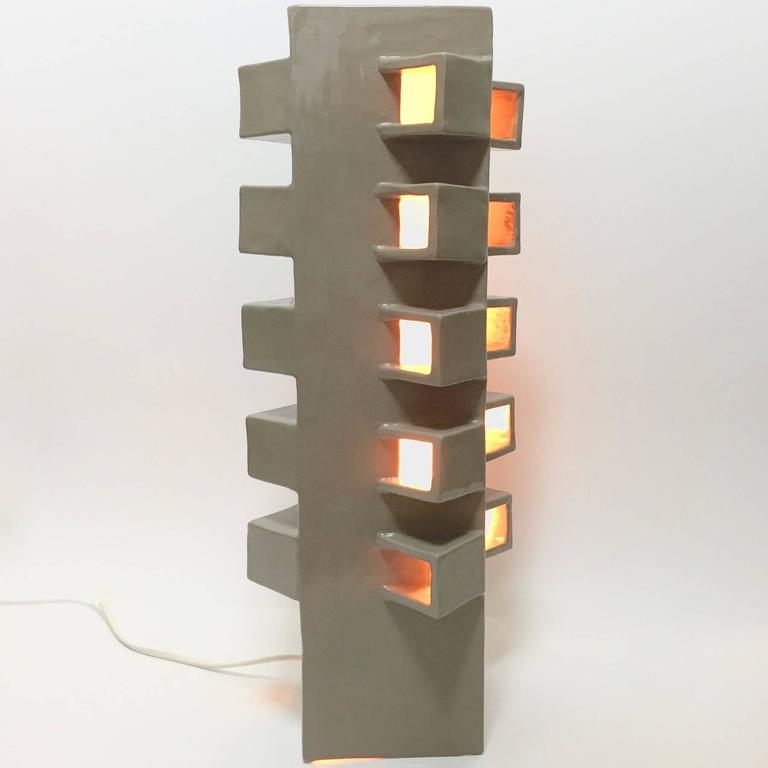 Ceramic Column Lamp Sculpture 5