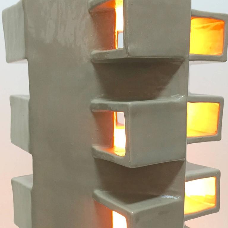 Ceramic Column Lamp Sculpture 6