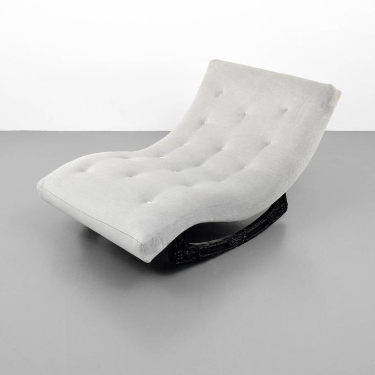 American Adrian Pearsall Brutalist Rocking Lounge/Chaise Lounge Chair,  1960s, USA For Sale