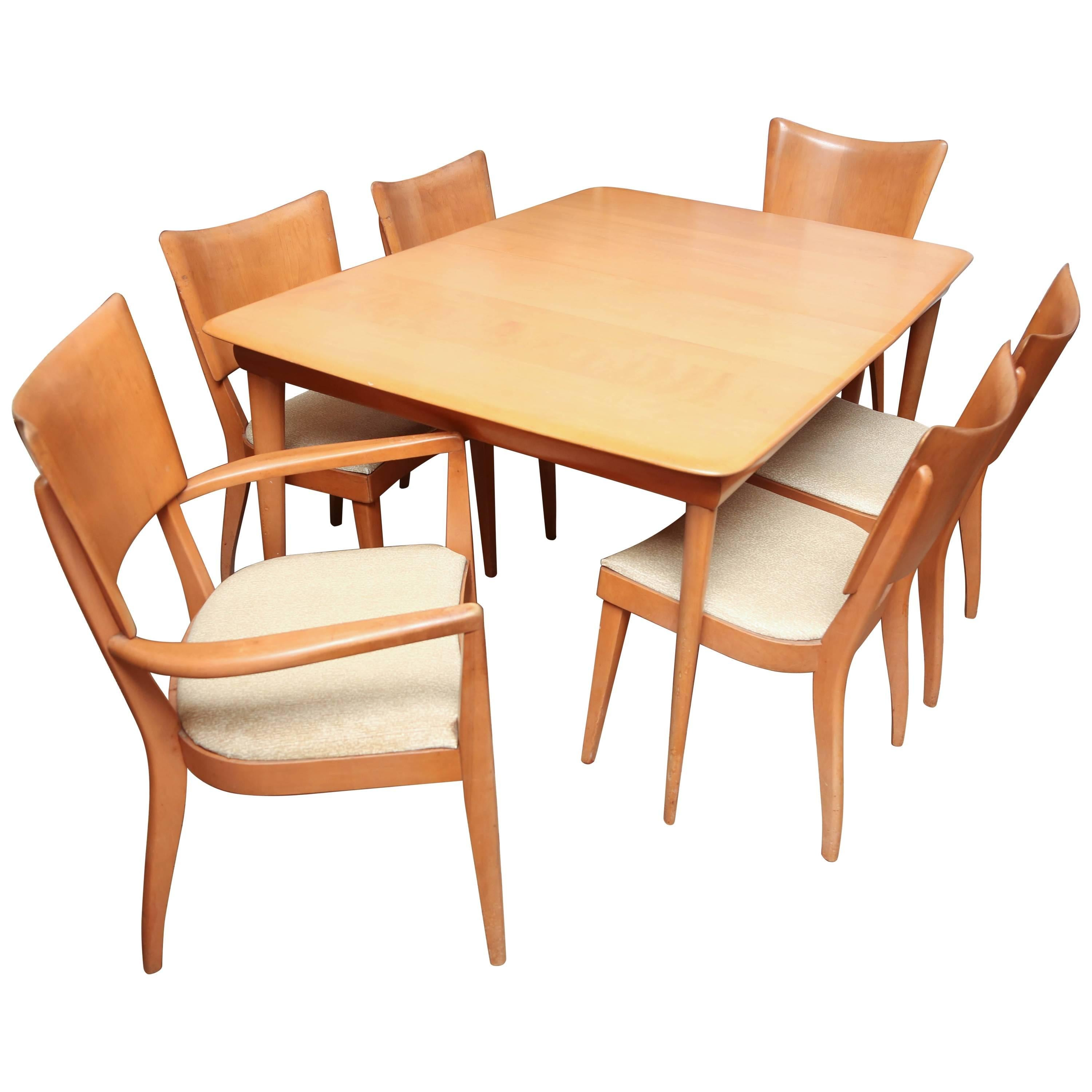 Bon Heywood Wakefield Dining Room Set With Six Chairs, 1960s, USA For Sale