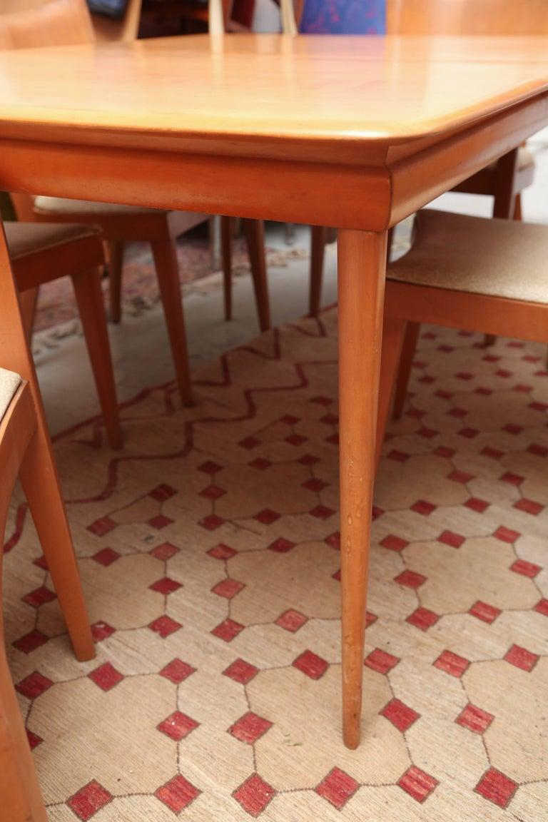 heywood wakefield dining room table | Heywood-Wakefield Dining Room Set with Six Chairs, 1960s ...