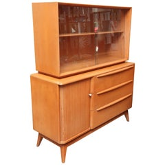Heywood-Wakefield Credenza or China Hutch, 1960s, USA