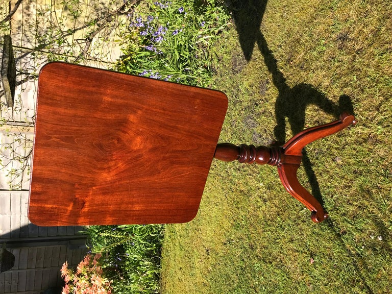 English 19th Century Mahogany Tripod Wine Table For Sale