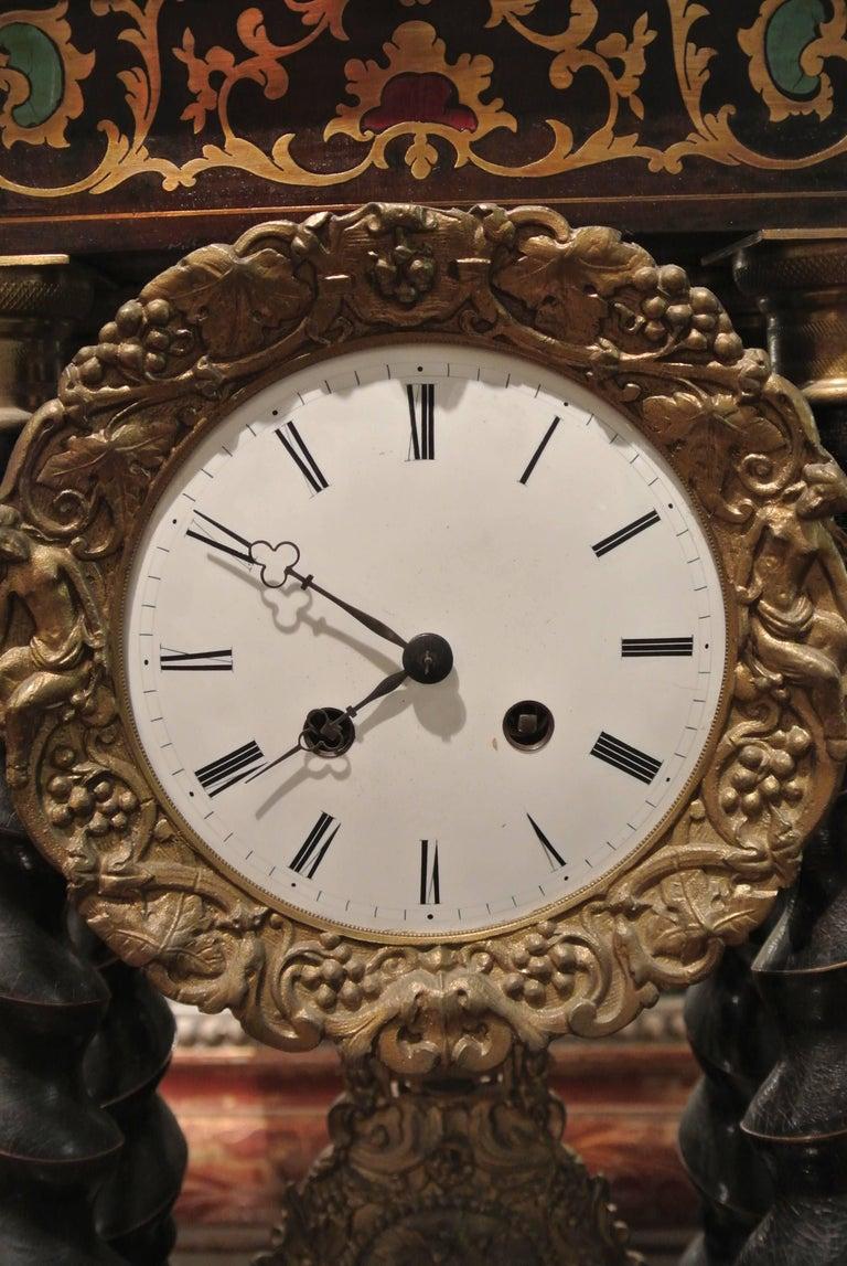 Late 19th Century 19th Century French Empire Portico Clock For Sale