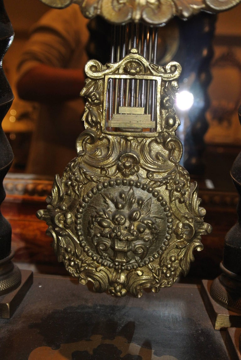 19th Century French Empire Portico Clock In Excellent Condition For Sale In Poole, GB