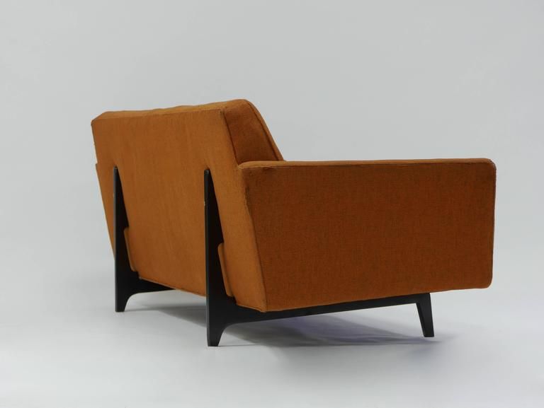 Mid-Century Modern Pair of Bracket Back Sofas by Edward Wormley for Dunbar For Sale