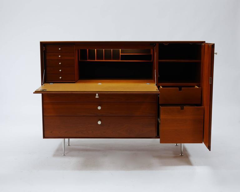 George Nelson Thin Edge Secretary Desk For Herman Miller For Sale 1