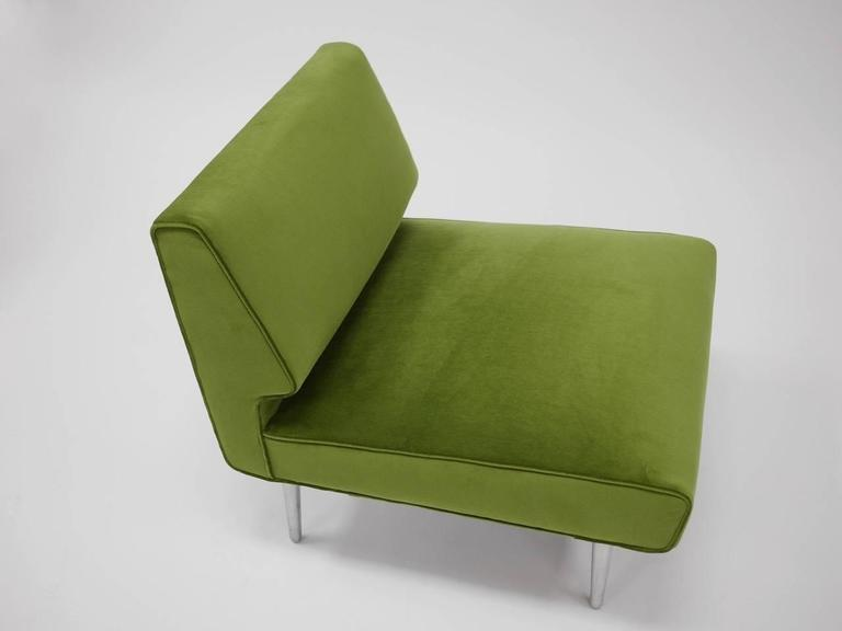 Mid-Century Modern Pair of Lounge Chairs by Edward Wormley for Dunbar For Sale