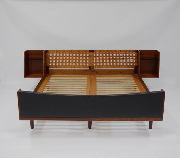 Bed With Attached Nightstands By Hans Wegner For Getama