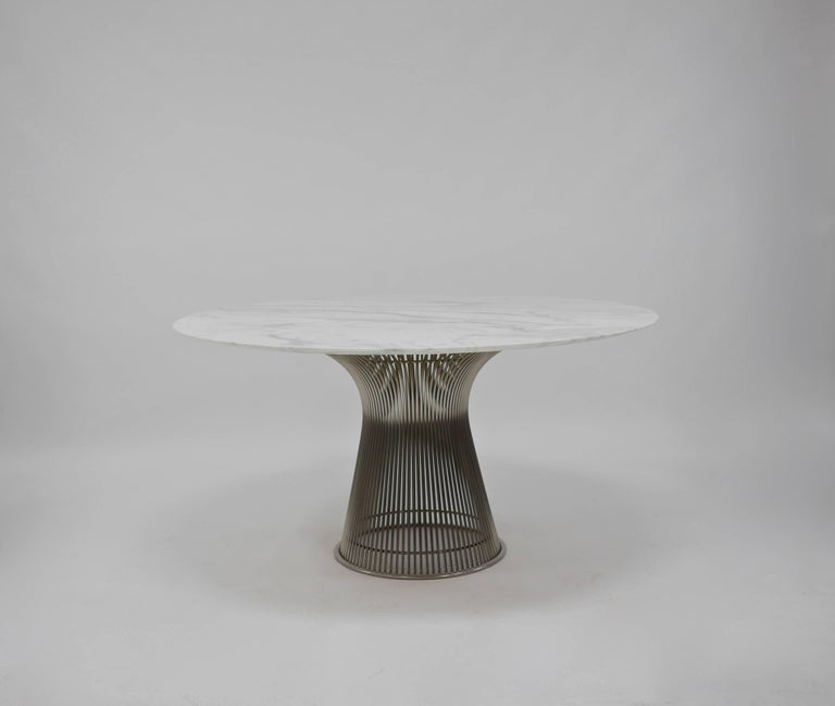 Marble Dining Table by Warren Platner for Knoll For Sale  : P1290136master from www.1stdibs.com size 768 x 649 jpeg 20kB