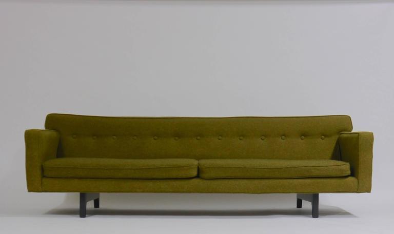 Mid-Century Modern Edward Wormley for Dunbar Bracket back sofa For Sale